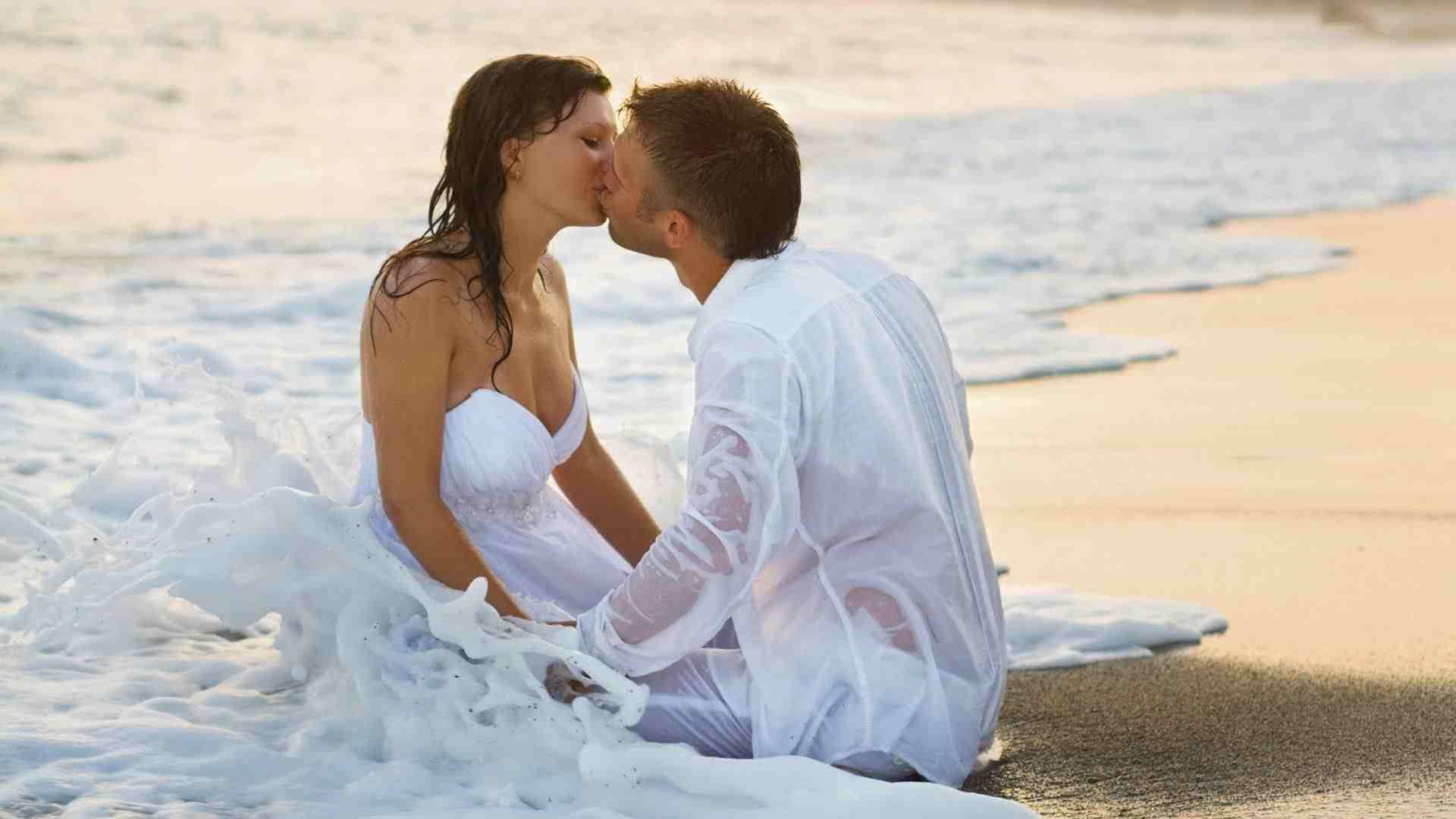 Pár na pláži AnteAr