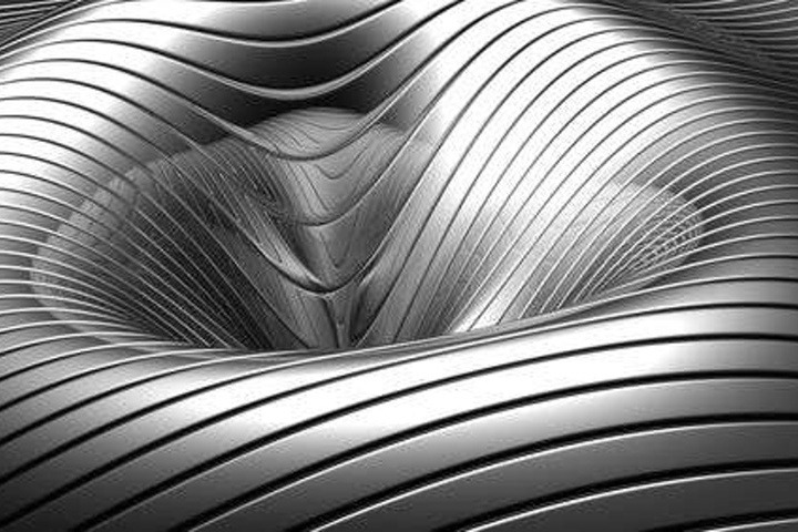Aluminum abstract silver concave stripes WP