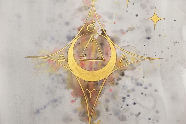 Sun Aries Moon Sagittarius mandala WP
