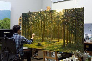 Malby stromov lesov prirody AnteAr