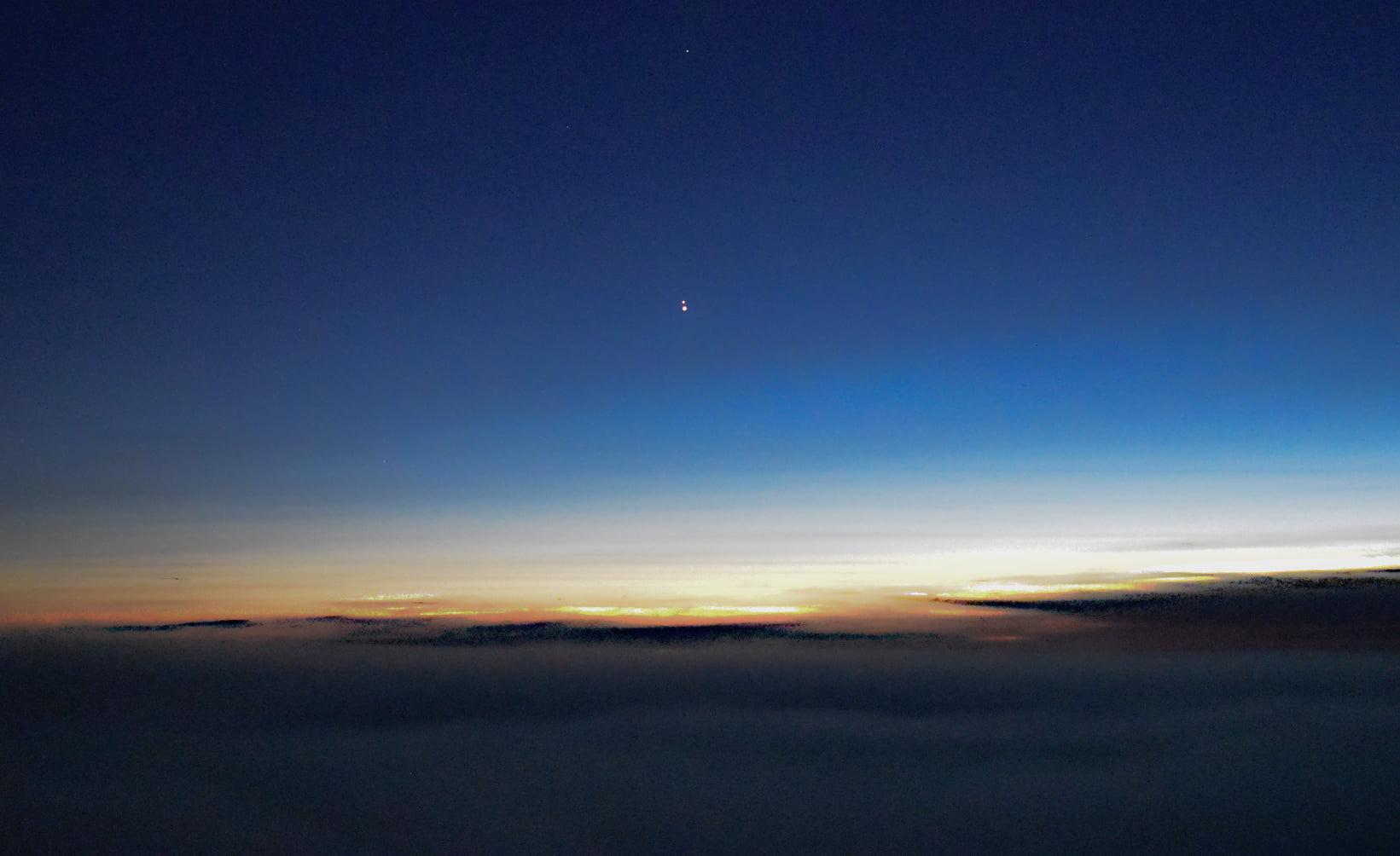 Konjunkcia Saturn a Jupiter 21. december 2020 Vrbatova bouda