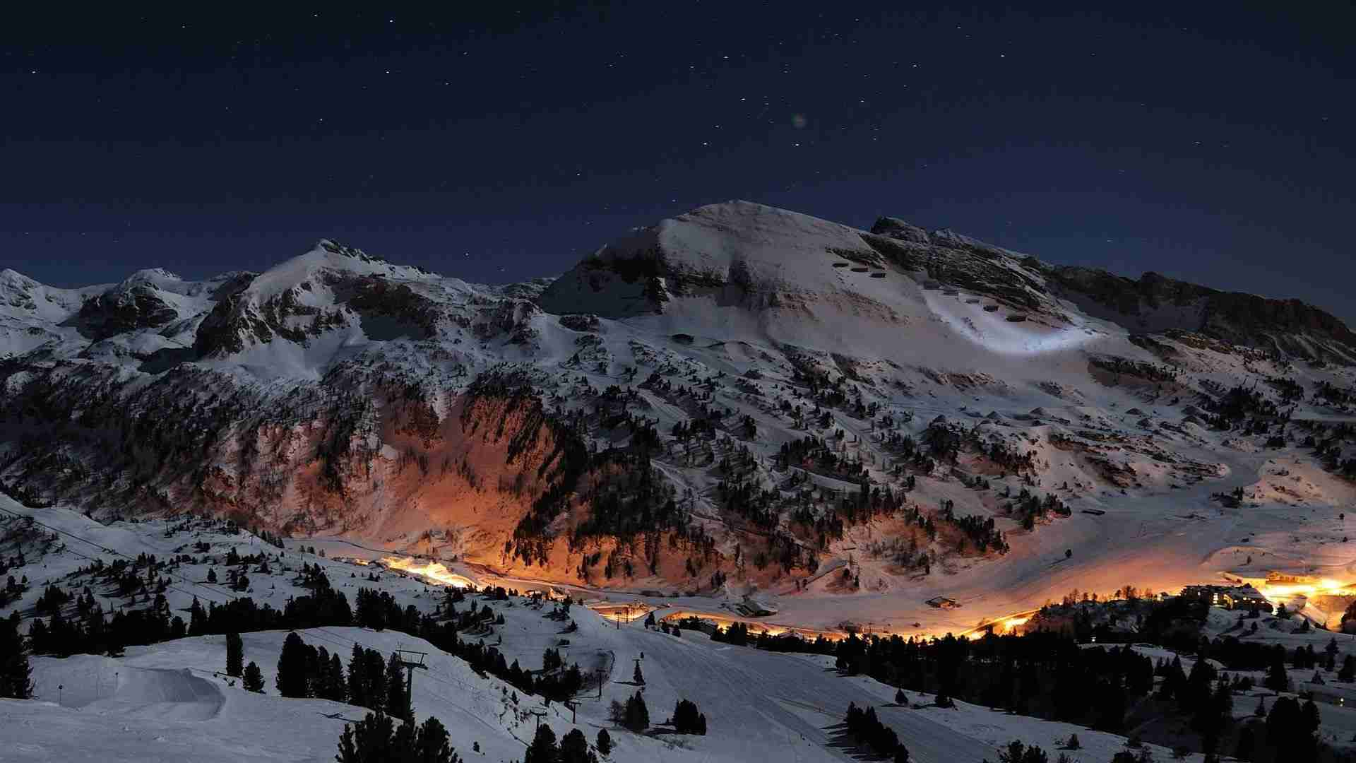 winter mountains scene AnteAr WP